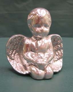 Mexican Pewter - Small Angel Statue