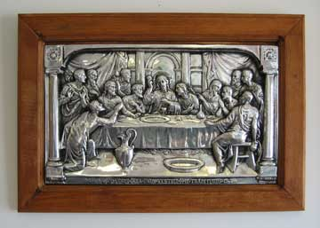 Mexican Pewter - Last Supper on Wood