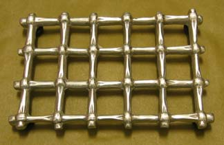 "Mexican Pewter ""Grate"" Trivet - Medium"