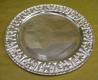 Mexican Pewter Charger Plate - Rehilete Design