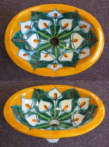 Hand Painted Mexican Sink