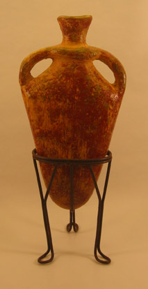Terra Cotta - Clay Jug with Stand