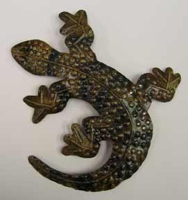 Tin Lizard Wall Hanging